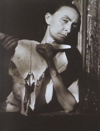 Georgia O'Keeffe With Skull
