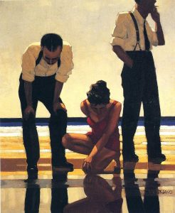Narcissistic Bathers painting by Jack Vettriano