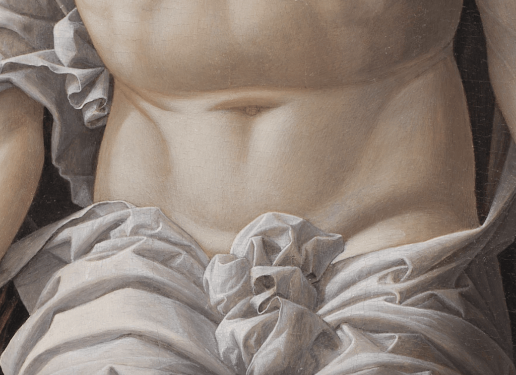 Andrea Mantegna, Christ as the Suffering Redeemer (detail)