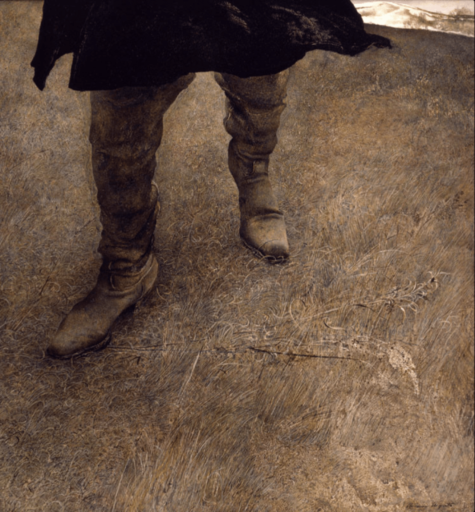 Andrew Wyeth, tempera on board