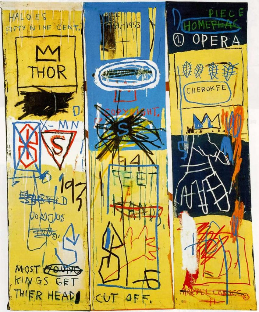 Charles the First, 1982, Jean-Michel Basquiat