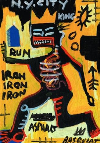 New York King painting by Basquiat