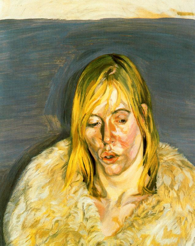 Lucian Freud - Girl in a Fur Coat, 1967