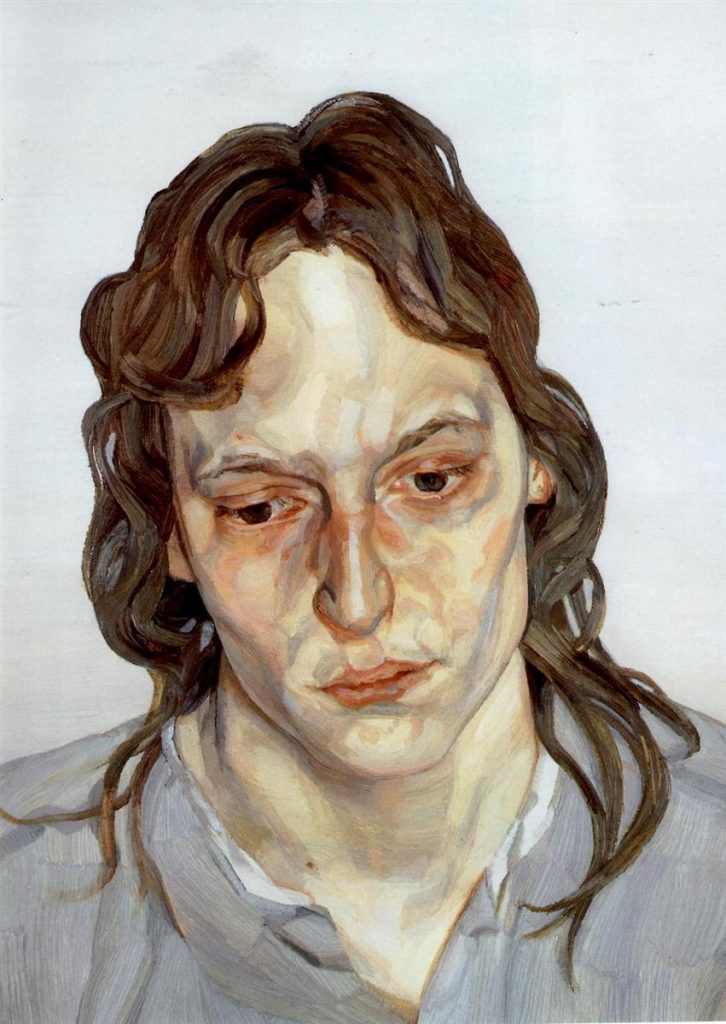 Lucian Freud - Head Of A Girl, 1976