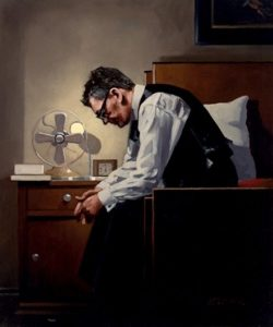 Jack Vettriano self-portrait - The Weight