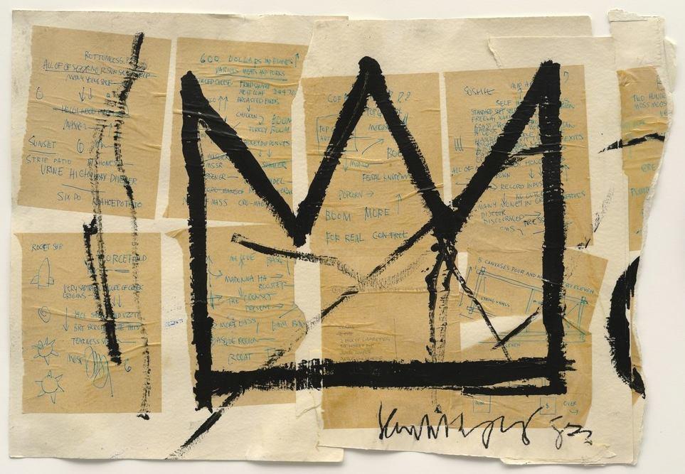 Untitled (Crown), 1982 - by Jean-Michel Basquiat
