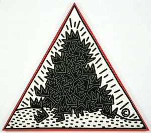 A Pile of Crowns, for Jean-Michel Basquiat, 1988, by Keith Haring