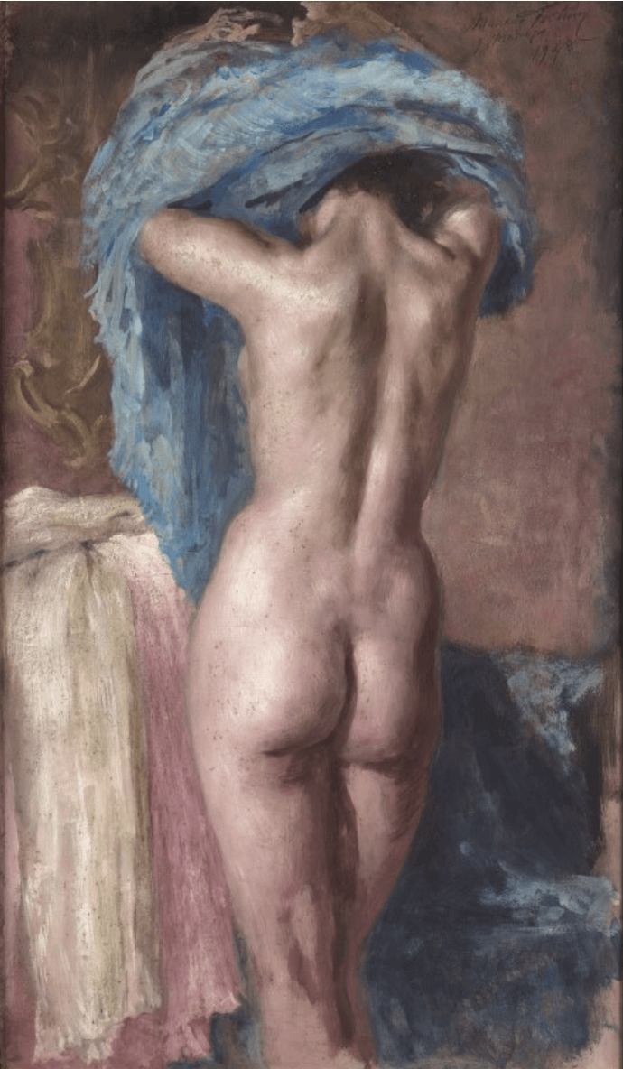 Mariano Fortuny y Madrazo, Female Nude from back