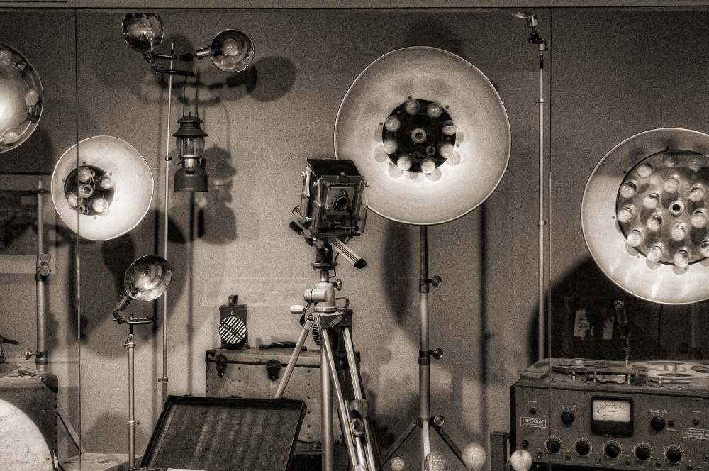 Photo of Link's camera and lighting equipment.