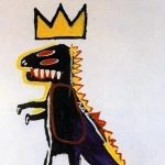 Pez Dispenser, 1984 - painting of dinosaur with crown