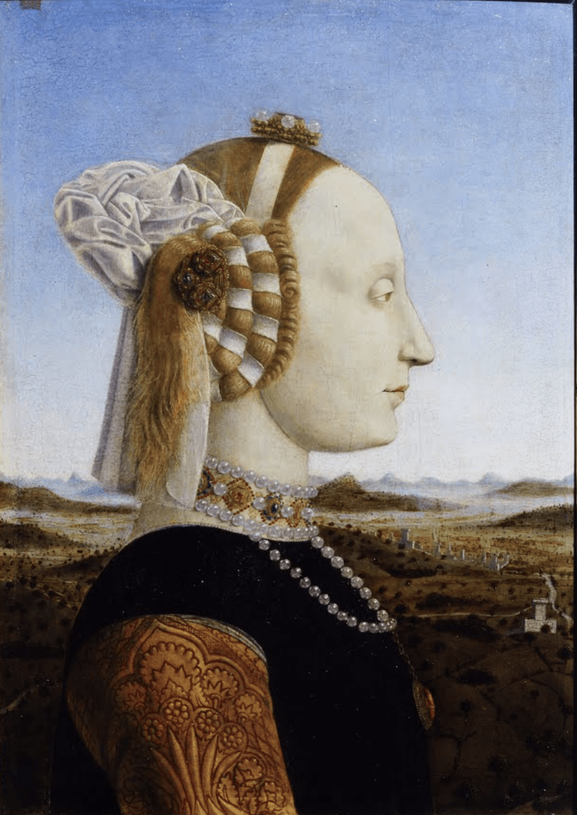 Piero della Francesca, Battista Sforza, Duchess of Urbino,